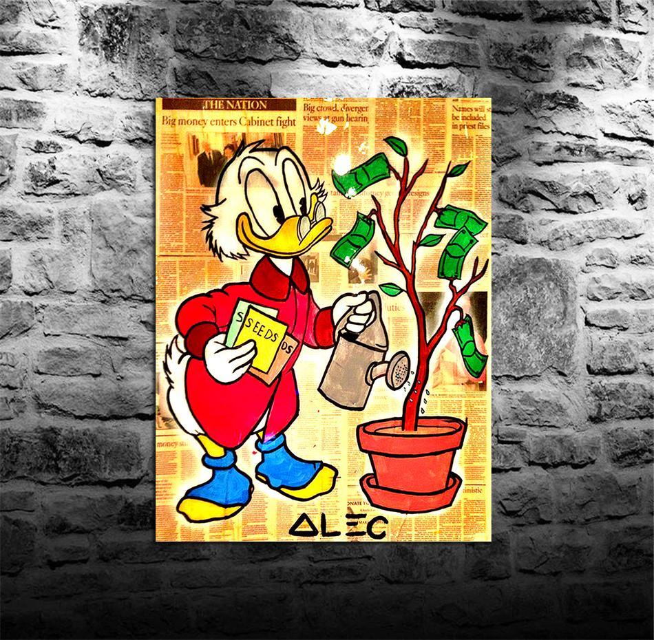 Alec Monopoly -42,1 Pièces de peintures sur toile de peinture à l'huile de mur d'art à la maison décor