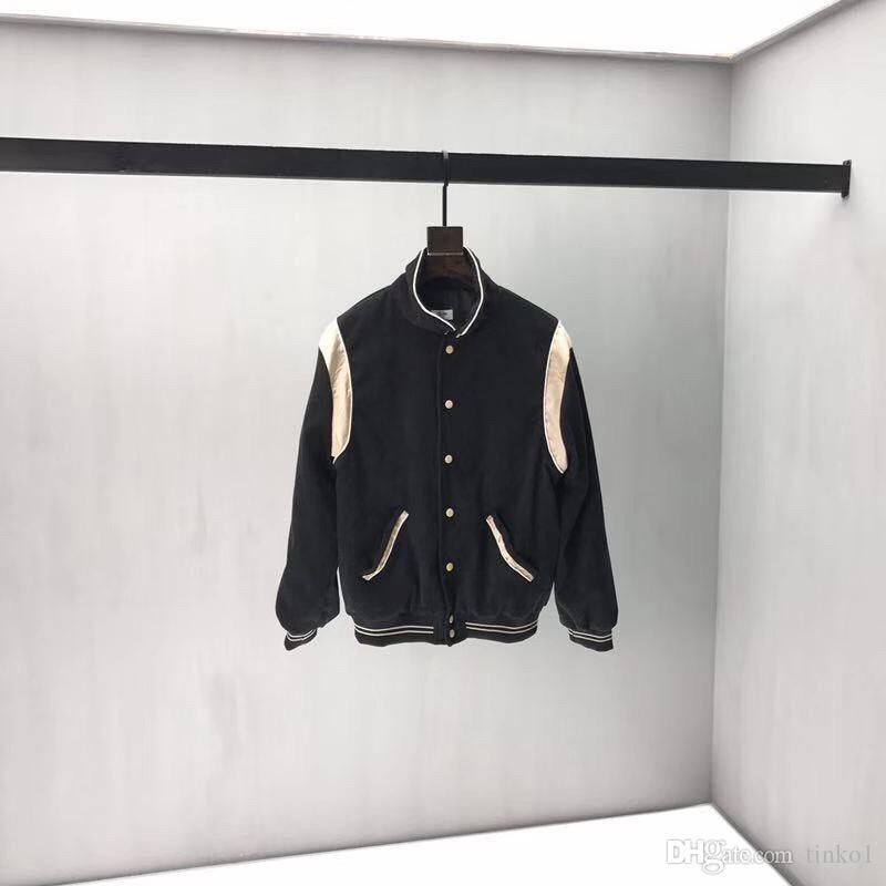 2019 мода новая весна осень кнопки толстовка толстовка мужчины с капюшоном Бейсбол ветровка пальто Homme черный серый капюшон