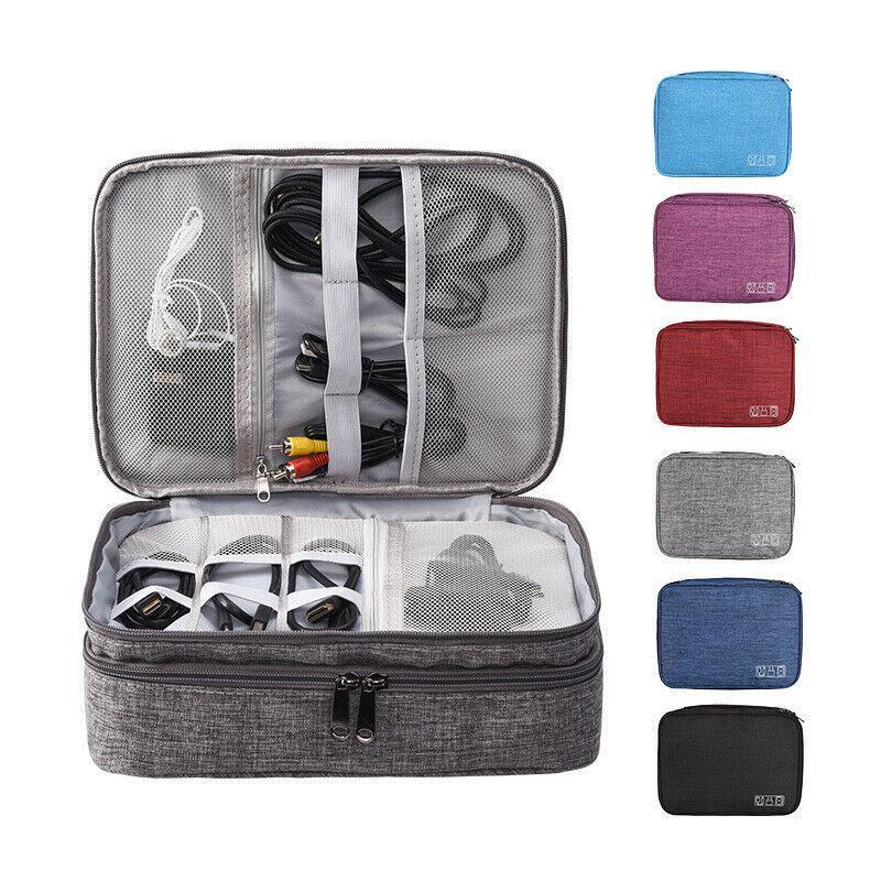 Digital Electronic Organizer Bag USB Cable Earphone Gadget Travel Storage Case