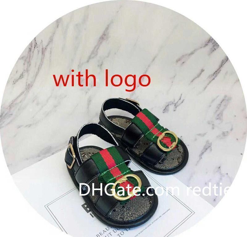 Детские дизайнерские туфли мальчики девочки летние полосатые сандалии малыш новорожденный первый ходунки обувь мягкая подошва противоскользящие Prewalkers тапочки E32803e831#