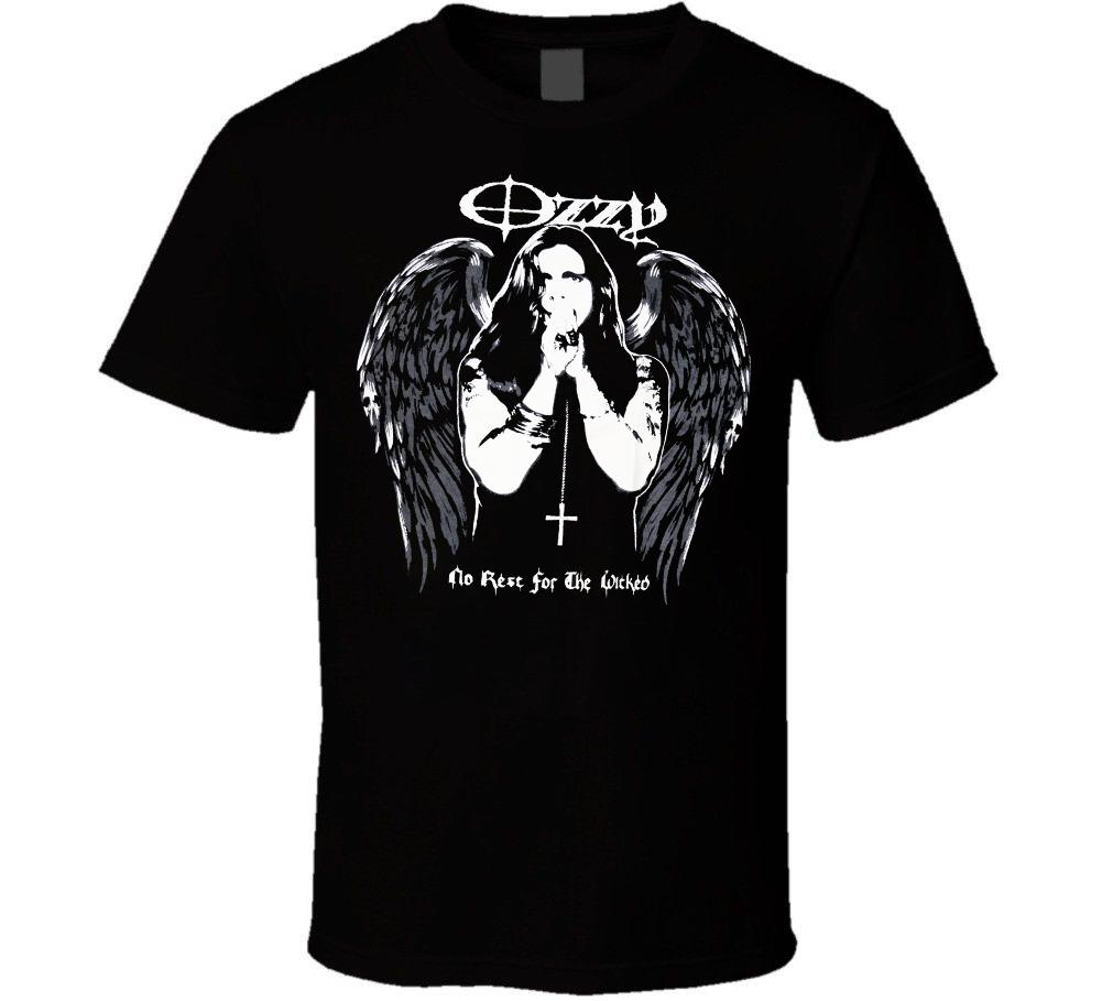Ozzy Osbourne No Rest for the Wicked Men/'s T-Shirt Black