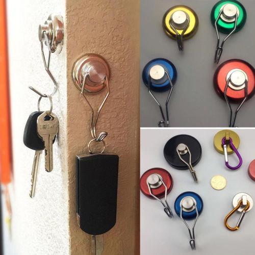 1pcs bâton utile Le solide crochet auto-adhésif collant Manteau Hat cintre en métal argenté mur crochets magnétiques Hanger Porte