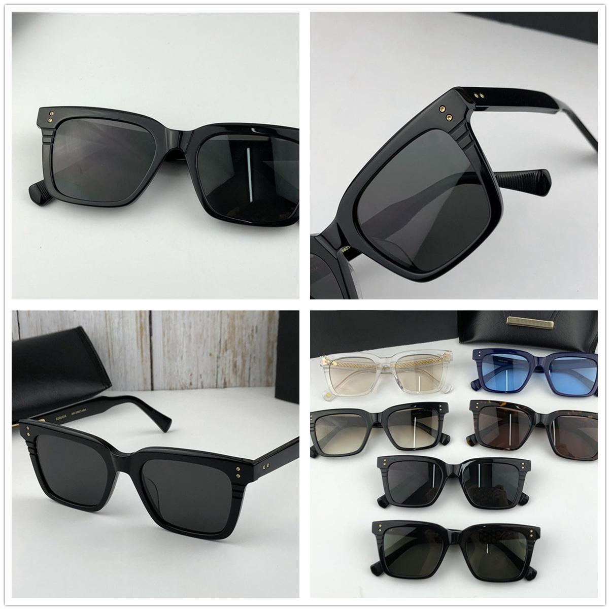 Vintage famoso diseñador de marca Gafas de sol Sequoia Square Gafas Shades Shades Mens Luxury Driving Eyewear Classic Anti UV400 Requección EQPEO
