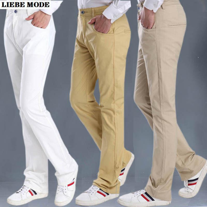 Mens Black White Khaki Yellow Dress Flare Pants Formal Business Summer Thin Linen Office Trousers for Men Loose Fit Suit Pants