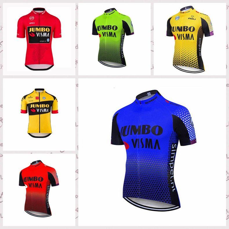 Jumbo equipo de Visma Ciclismo de manga corta jersey nuevo 2020 hombres de alta calidad de Verano Racing camisa de la ropa C616-31