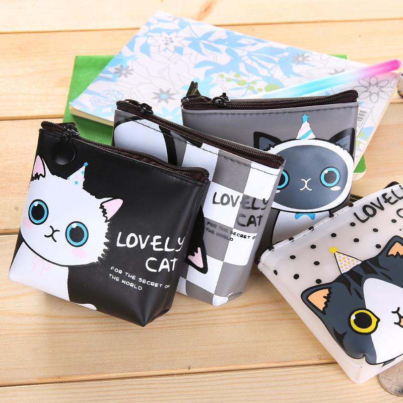 Nette koreanische kreative Geldbörsen für Studenten wasserdichte Geleehandtasche Kinder dot Katze null Münzenbeutel Beutel