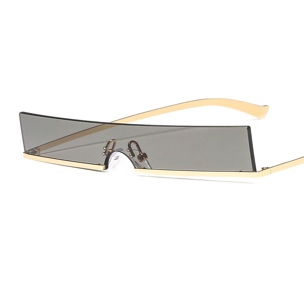 여성을위한 새로운 designerunisex 럭셔리 선글라스는 사각 투명 렌즈 안경 frameretro 골드 실버 금속 프레임 선글라스 무테