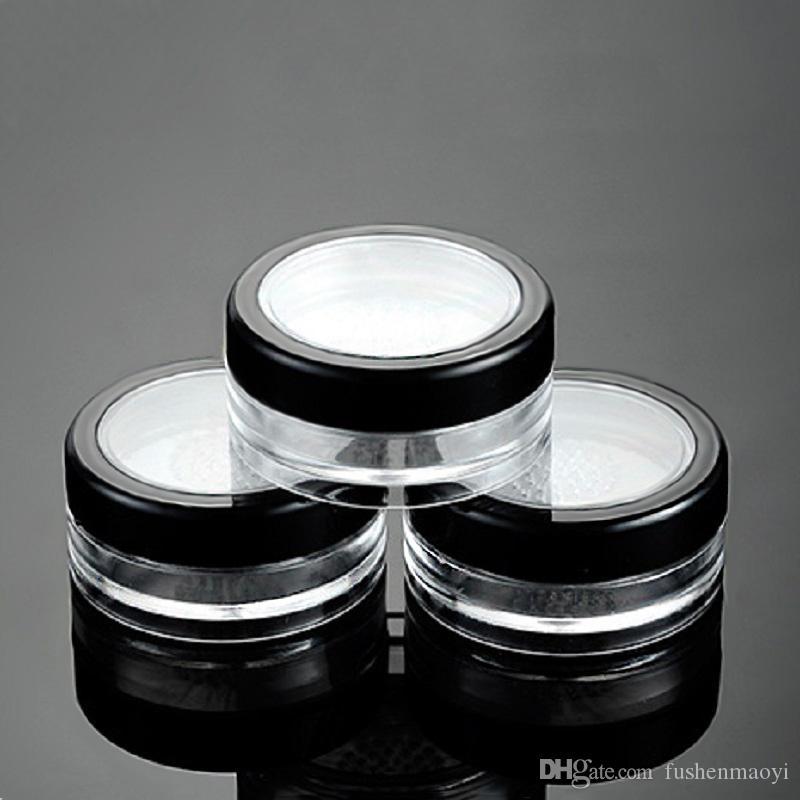 10G 10 ml vacío Polvos Sueltos colorete soplo caja de la caja de maquillaje cosmético tarros recipientes con tapas Tamiz