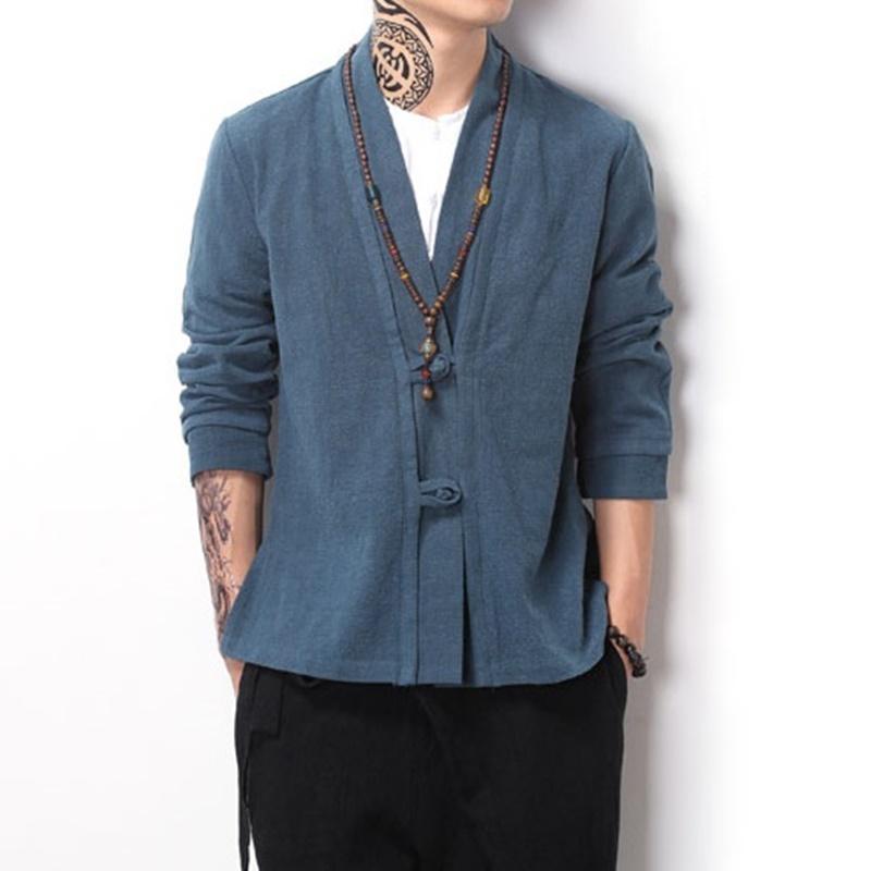 Abbigliamento cinese tradizionale per uomini maschio bomber giacca cappotto uomo inverno orientale streetwear uomo cinese vestiti
