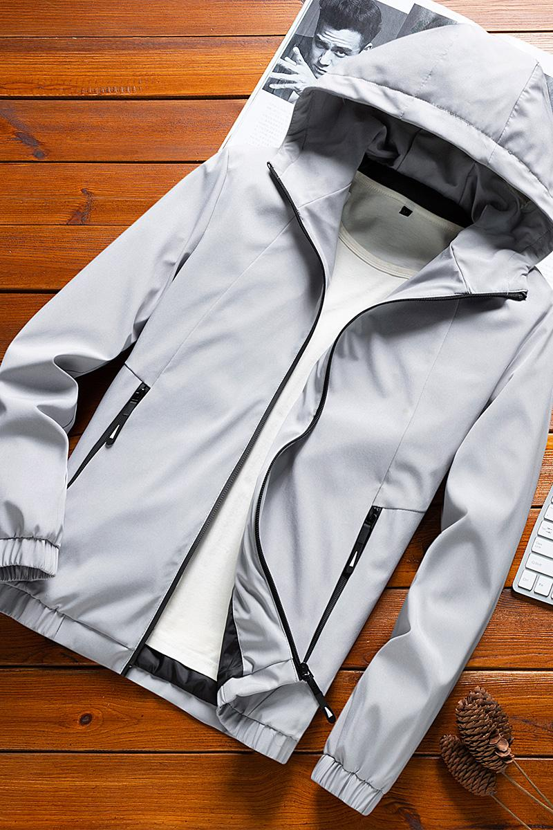 Jacket Men 2020 Новый Sliming Большой размер Zipper карман с капюшоном Повседневная Мужская куртка