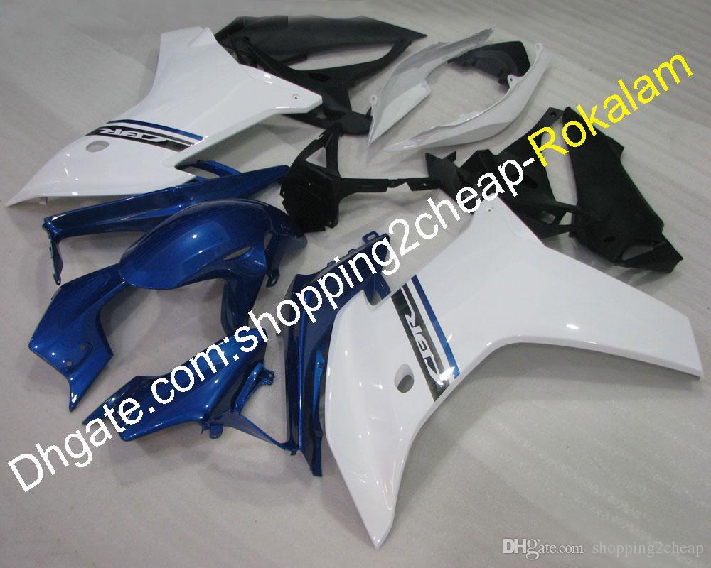 Cheap Motorbike Fairing For Honda CBR600F 2011 2012 2013 CBR 600F 11 12 13 Blue White body kit Motorcycle Fairings (Injection molding)