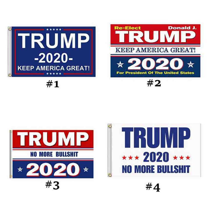 4 Estilos Trump 2020 Flag 90 * 150CM Donald Mantenha América Grande impressão Bandeira do partido EUA Bandeira Bandeiras ZZA2289 50pcs