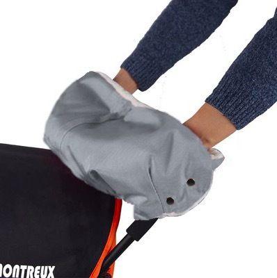 Bambino passeggino guanti caldi passeggino copertura nevosa invernale antivento accessori freddi più velluto carrozza capelli spessi guanti