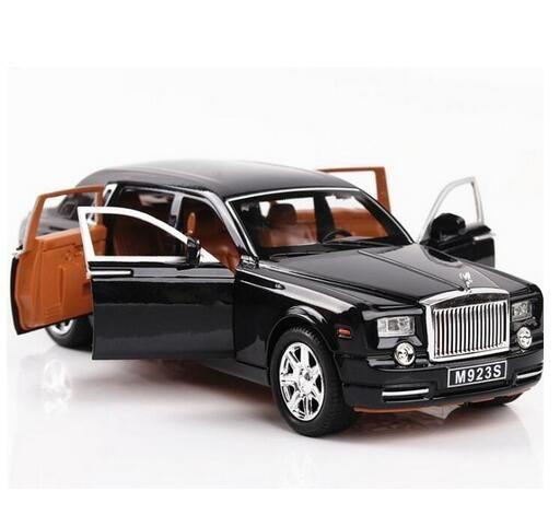 Car model 1/24 Rolls Royce Phantom alloy slender cast light model high simulation toy gift collection