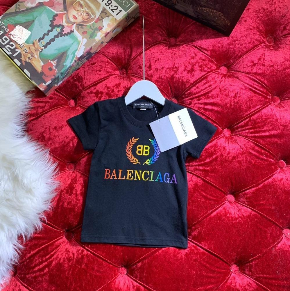 Lazer meninos menina Verão New Color letras impressas Padrão manga curta roupa T-shirt bonito das crianças 031411