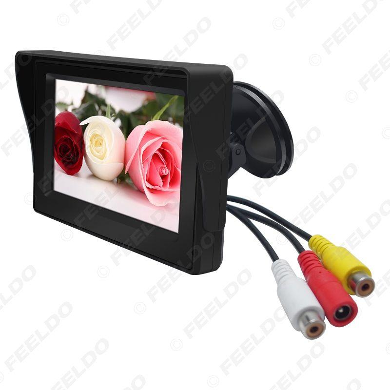LEEWA 4.3inch Цифровой дисплей лобового стекла автомобиля LCD монитор для заднего хода камера подпорки DVD VCR # 4590