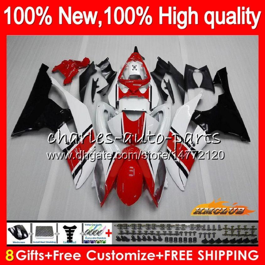 Lichaam voor Yamaha Red Black Hot YZF600 YZF R6 YZF-R6 2008 2016 68HC.20 YZF 600 R 6 CC 600CC YZF-600 YZFR6 08 09 10 11 12 13 14 15 16 VALERINGEN