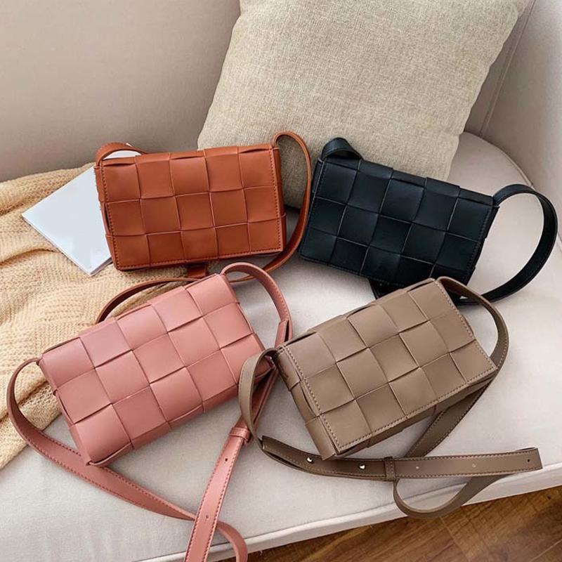 Femmes Sac bandoulière Sac à main Designer tricot de haute qualité Mode Mesdames épaule Messenger sacs en tissu à carreaux Femme bourse