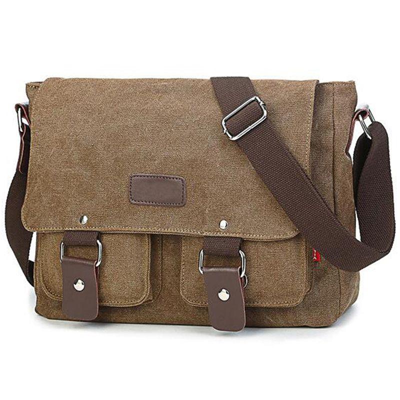 Sac Vintage pour hommes Casual Sac bandoulière pour les hommes Messenger Bag Man Voyage Sacs Noir Bolsa Masculina haute qualité S20425