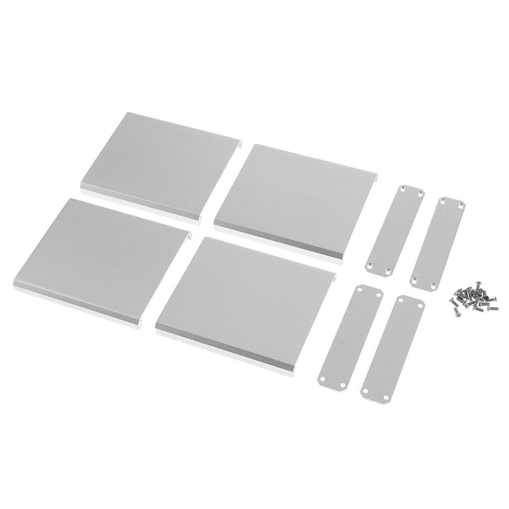 Vidalar-75x67x16mm White ile 2adet Alüminyum Projesi Muhafaza Ekstrüde Elektronik Düz Kutusu Vaka DIY