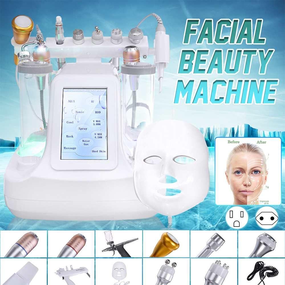 12 en 1 Hydra Dermabrasion RF Bio-Levantamiento Facial Máquina Facial Agua Jet Hydro Diamond Peeling Microdermabrasión