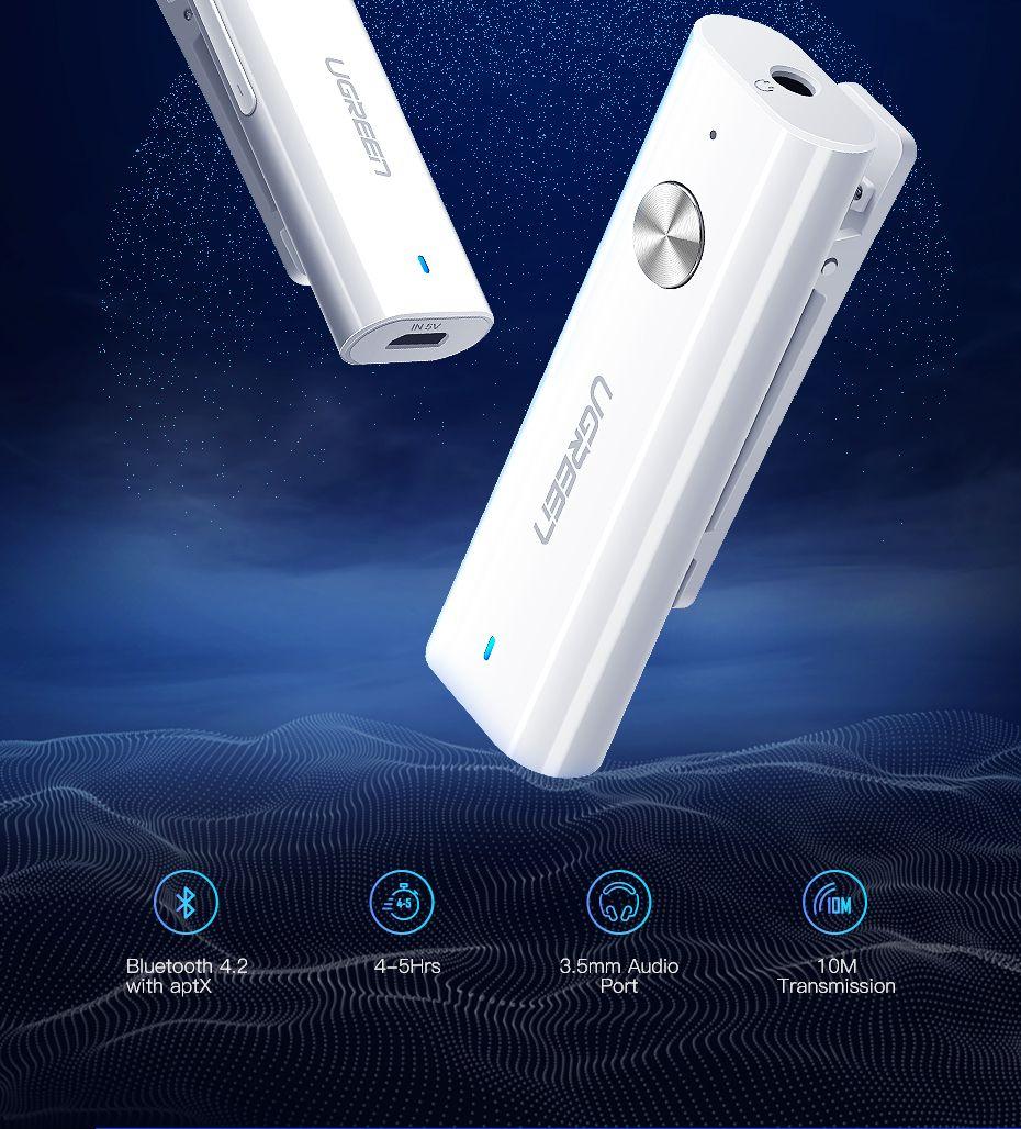 3,5 mm Bluetooth 4.2 Récepteur APTX AUX Adaptateur pour casque Haut-parleur sans fil Bluetooth 3.5 Musique Jack Audio Récepteur