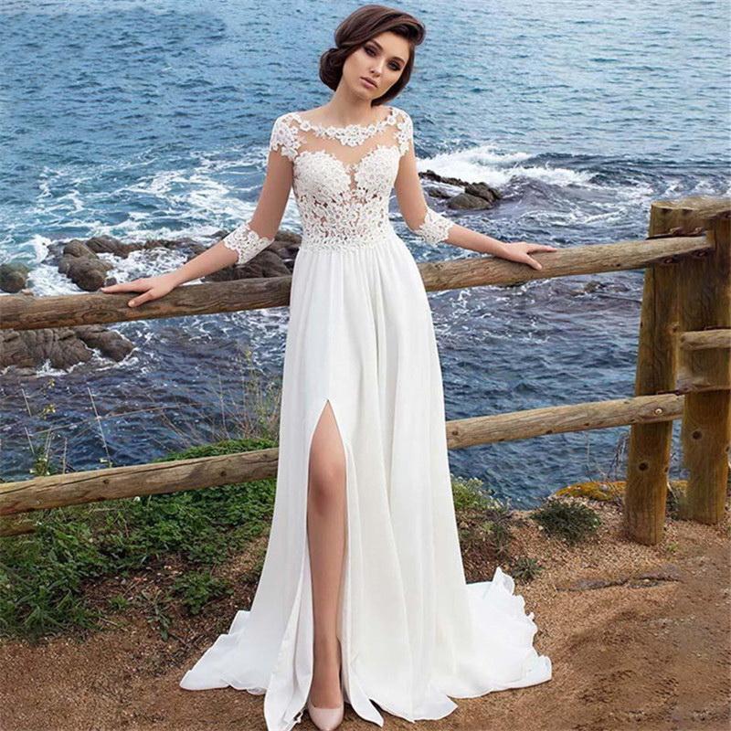 Casamento Lace Vestidos 2019 fora do ombro apliques Um envio Noiva Linha vestido de princesa vestido de casamento grátis