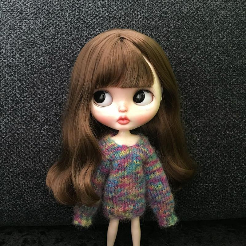 New 1PCS Cute Handmade dolls Rainbow Sweater Long Sleeve Sweater dress for blyth azone ob24 dolls accessories clothes for dolls