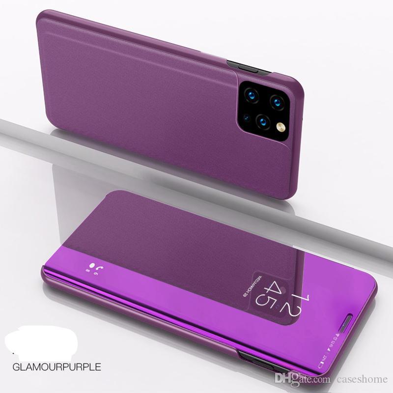 iPhone 11 için Pro Max XR XS MAX 8 7 6s artı Lüks Görüntüle Akıllı Ayna Telefon Kılıfı için redmi K30 perakende paketi ile redmi 8