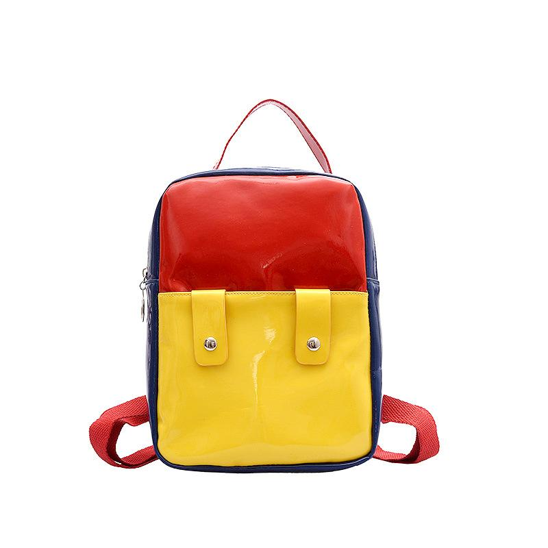 Ougger Cute Backpack New Arrival Fashion Panelled Patent Leather Bucket Student Backpacks Women's Weekend Travel Bag Handbags