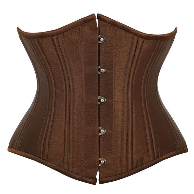 26 Controllo del doppio della vita Corsetto disossato acciaio di Underbust Womens Bustini raso corsetti Cincher della vita di corsetto Plus Size XS-6XL