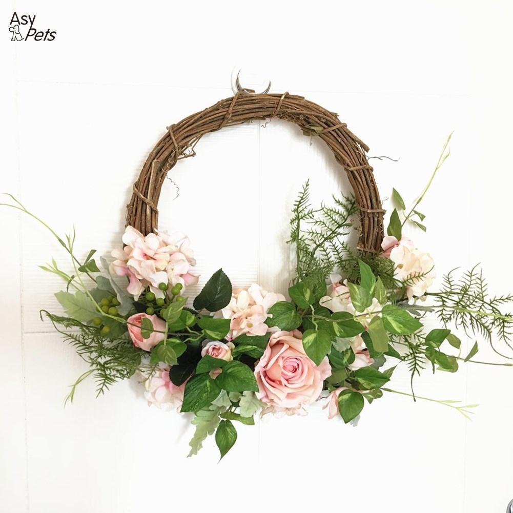 Flores De Rosas De Simulação Decoração De Casamento Floral Hoop Garland Parede Doméstica Flores Penduradas-35