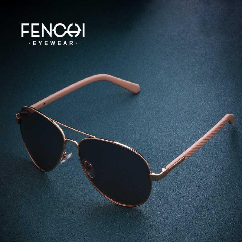 FENCHI óculos de sol mulheres polarizada espelho piloto óculos senhoras moda do sol do vintage para as mulheres lunette soleil femme óculos Feminino