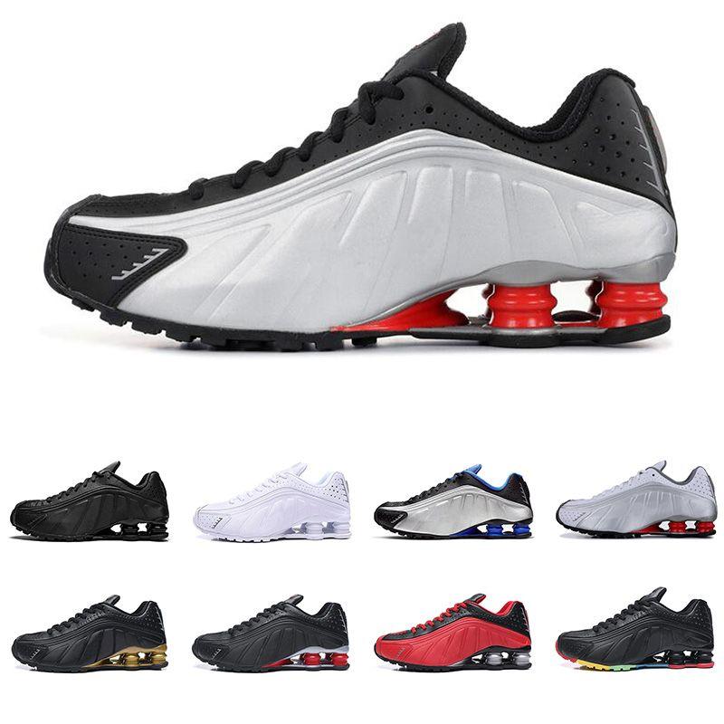 Compre 2019 Nike Shox R4 Hombres Mujeres Zapatos Para Correr De Calidad  Superior OG Triple Negro RACER BLUE Para Hombre Zapatillas Deportivas De  Moda ...