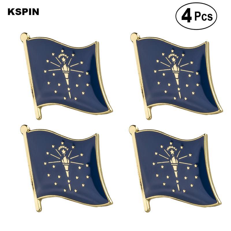 U.S.A Indiana Bandiera Pin Lapel Pin Badge Spilla Icone 4PC