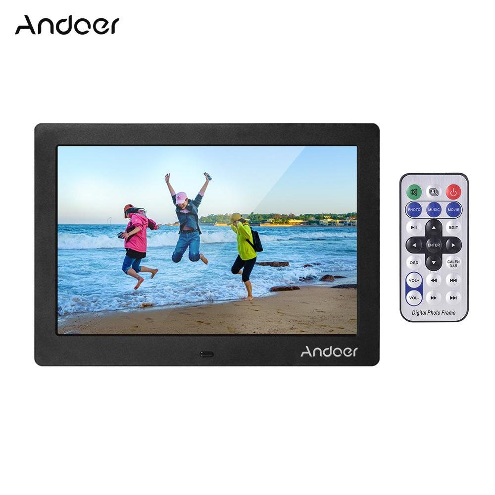 Andoer 10  Digital Picture Photo Fram IPS Full-View Screen Photo Album 1280*800 Clock Candal Video Player with Remote Control T200320
