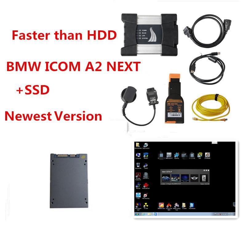 Melhor para BMW WIfi ICOM PRÓXIMO A + B + C com SSD Macio-ware V06 / 2020 Super velocidade para bmw icom a3 ferramenta caber mais laptop