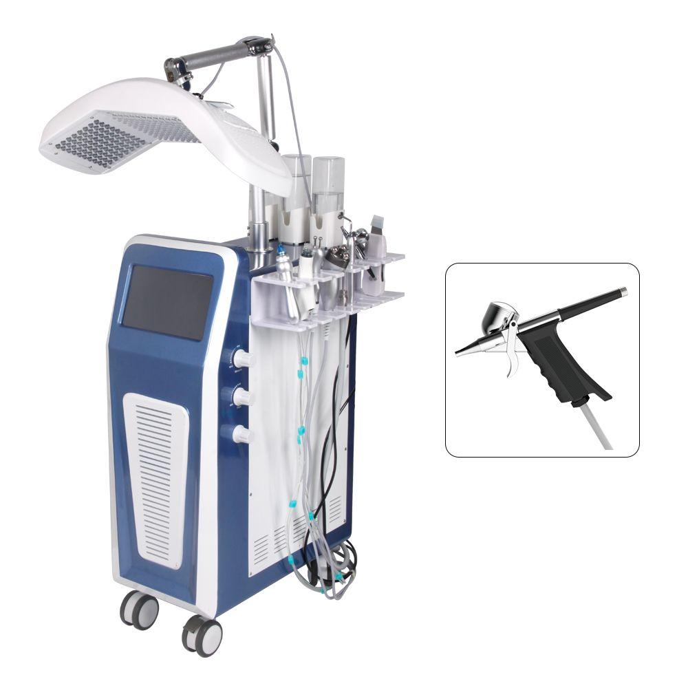 Date d'arrivée GW139 microcourants dispositif facial Machine HydraFacial Hydrodermabrasion / aérosols mistgun / BIO / RF / peel jet d'oxygène / PDT