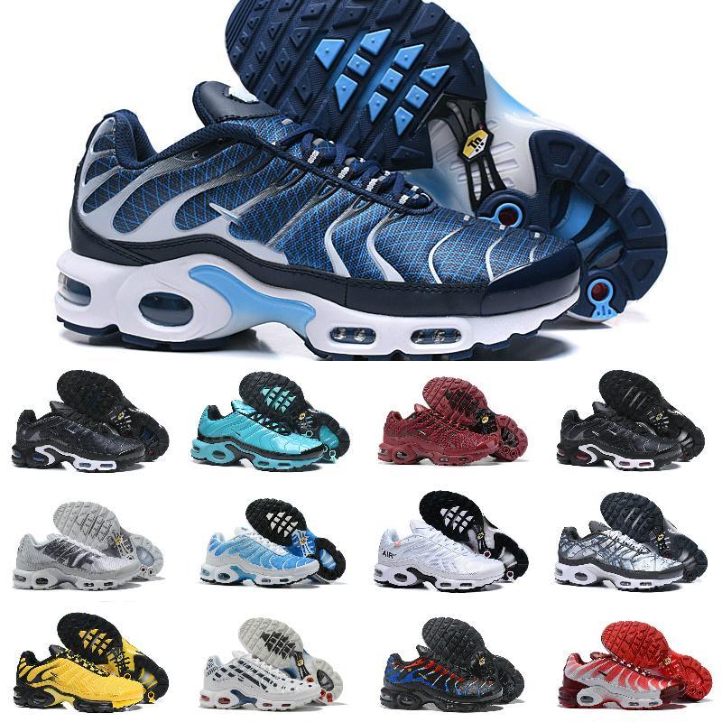2021 مبيعات الأصل TN الاحذية تنفس رخيصة MESH الأسود أبيض أزرق أحذية الترا الثلاثي للرجال TNS Requin المدرب الهواء التنزه الرياضة