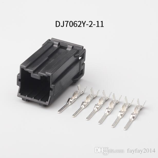 Livraison gratuite 60set 6 Pin 7282-1068 7283-1068 Femme Homme Injecteur Plug-Automotive Connecteur