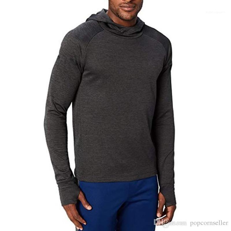 Designer Hoodie Fashion Solid Color Langarm-dünne Fitness Hoodies Mens Designer Hoodie Plus Size Herren