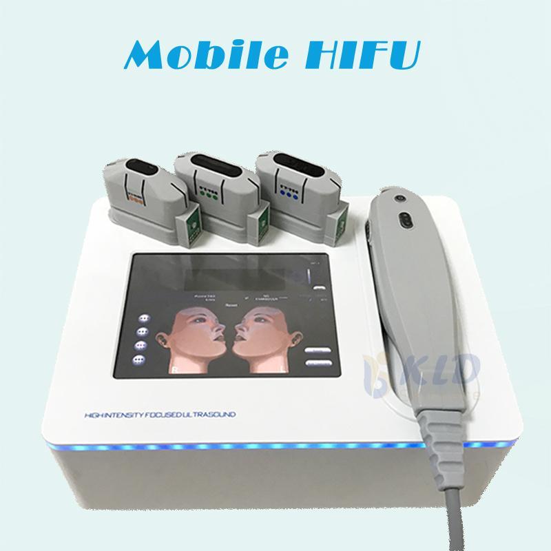 Cuidados en el hogar Uso HIFU estiramiento facial antienvejecimiento de la piel Sistema HIFU belleza de adelgazamiento para salón de belleza 5 cartuchos de tratamiento de cuerpo completo