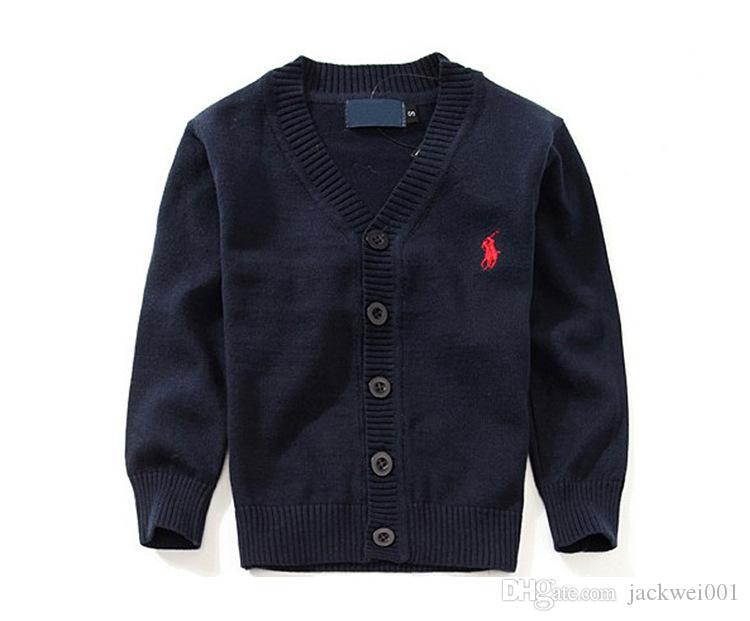 Nouveaux enfants Top Vêtements Marque 100% Coton Bébé Pull de Haute Qualité Enfants Vêtements Fille Chandail Garçon Chandail Col V Polo Chandails
