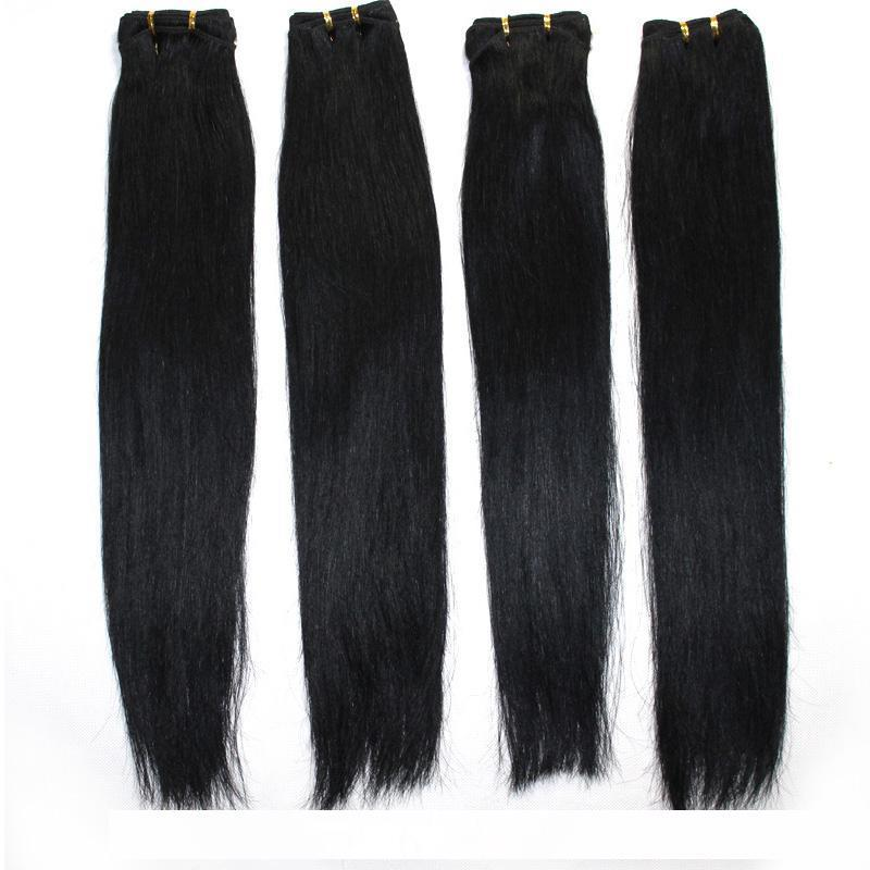 100 الشعر الإنسان اللحمة البرازيلي مستقيم حزمة ملحقات الشعر # 1B الأسود # 2 # 8 براون # 613 شقراء مزيج أطوال البرازيلي نسج الشعر 12 -24
