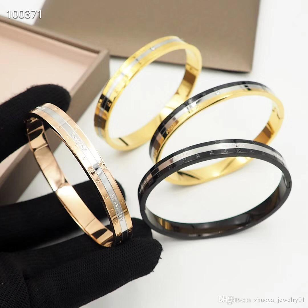 2020 luxury designer jewelry men bracelets stainless steel jewelry calendar bracelet fashion bracelet bangle women luxury jewelry bangles