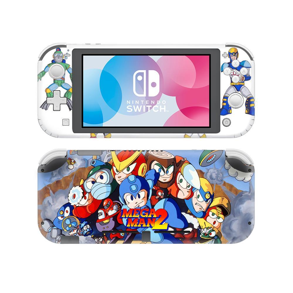 Mega Man Skin Sticker Decal For Nintendo Switch Lite Console and Controller Protector Joy-con Nintendo Switch Lite Skin Sticker