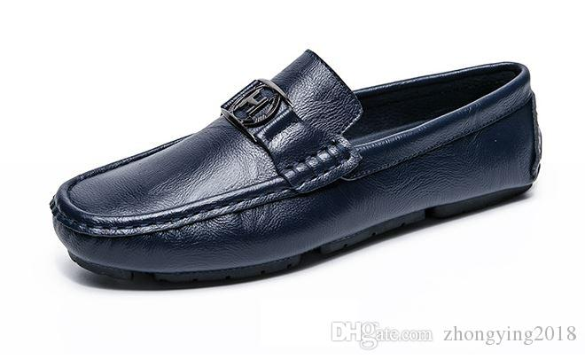 Genuine Leather Driving Loafers Men All