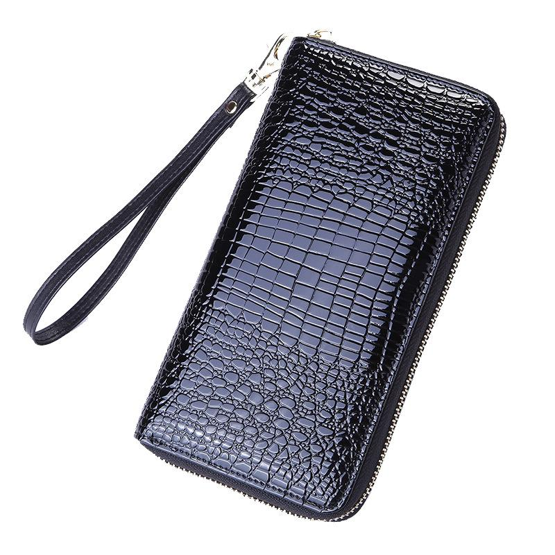 Diseñador de moda al por mayor de la cartera de diseñador para mujeres con cremallera carpeta de las señoras del cuero de lujo carpetas largas bolsas monedero QB020