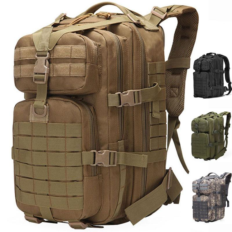 50L Large Capacity Tactical Backpacks Molle Army Assault Bags Outdoor Hiking Pack Man Trekking Camping Hunting Backpack