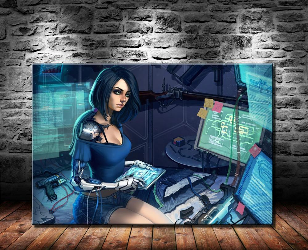 2021 Cyberpunk Girl Concept Art Hd Canvas Printing New Home Decoration Art Painting Unframed Framed From Dhqicai05 8 56 Dhgate Com